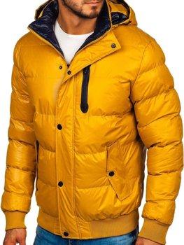 Žlutá pánská zimní bunda Bolf 5839