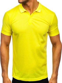 Žluto-fosforová pánská polokošile Bolf GD02