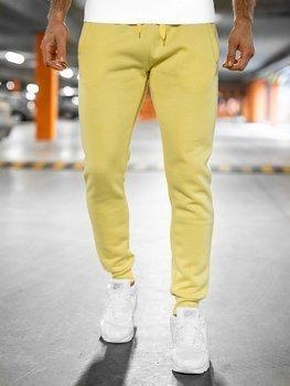 Žluto-neonové pánské tepláky Bolf XW01