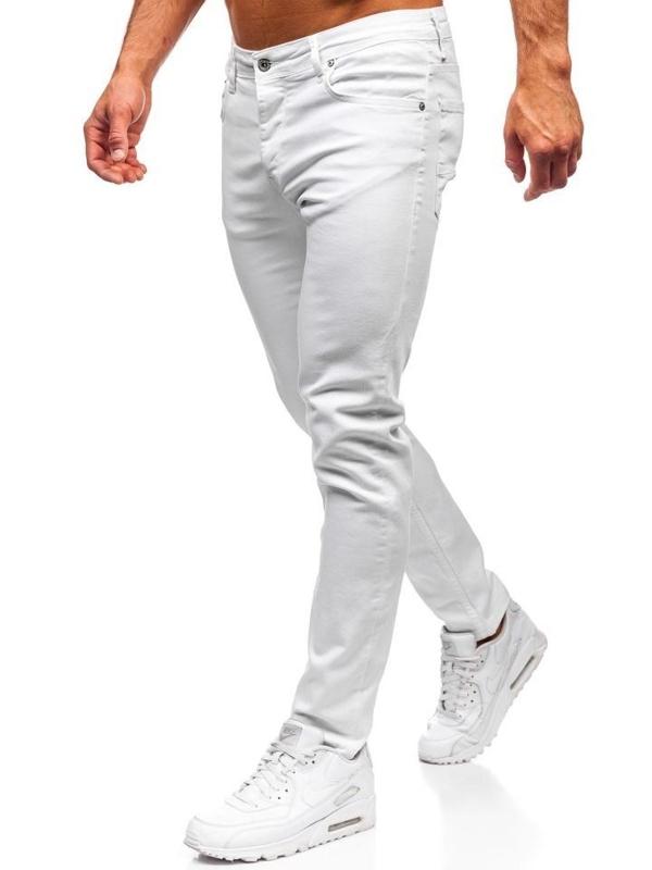 Bílé pánské džíny Bolf 55021