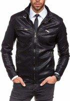 Černá pánská koženková bunda Bolf 278