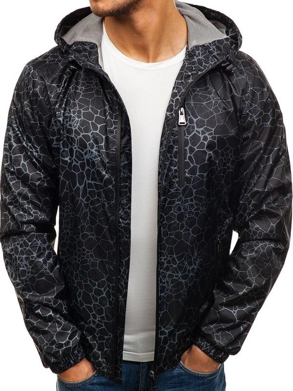 Černá pánská přechodná bunda Bolf 8005