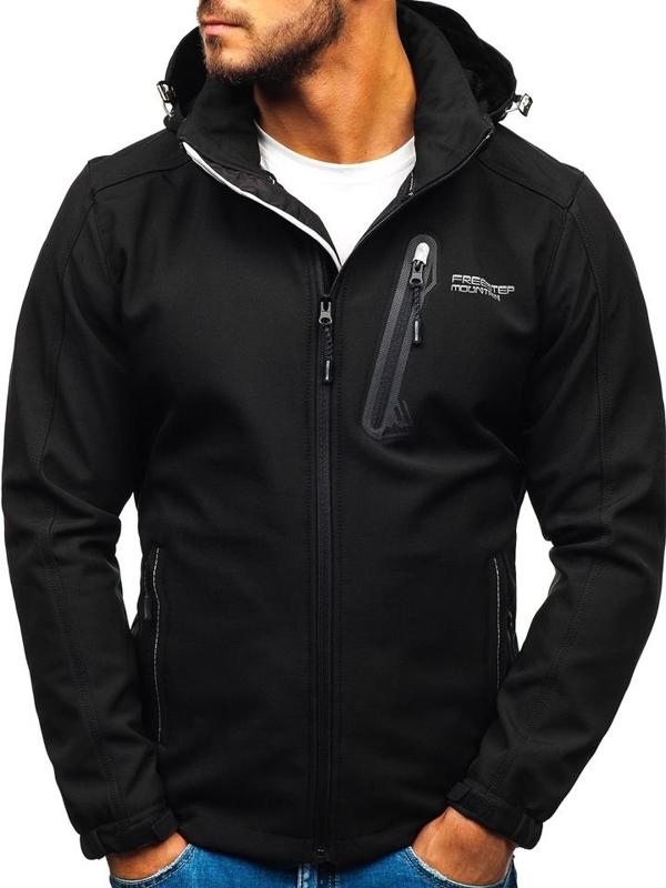 Černá pánská softshellová bunda Bolf AB95
