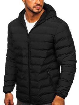Černá pánská sportovní zimní bunda Bolf SM67