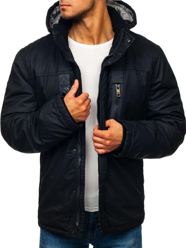 Černá pánská zimní bunda Bolf 1567
