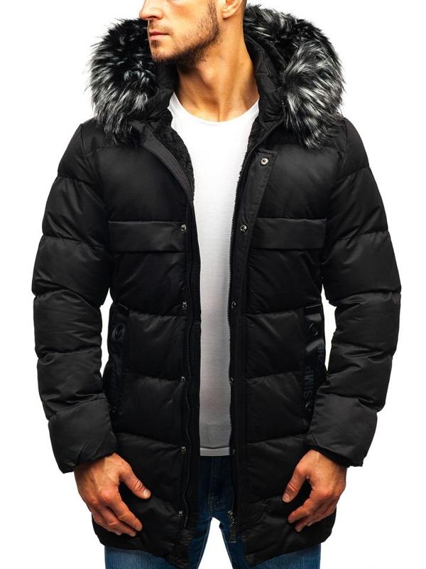 Černá pánská zimní bunda Bolf 99113