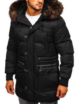 Černá pánská zimní bunda Bolf 99116
