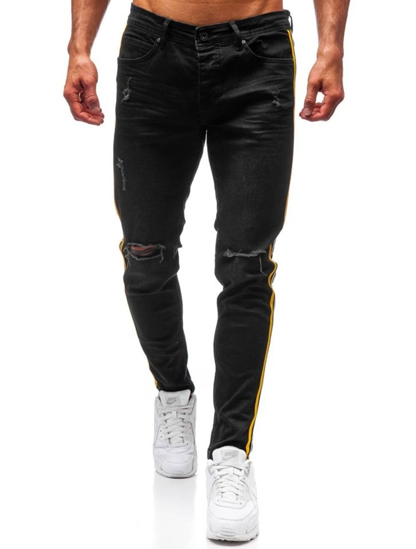 Černé pánské džíny Bolf 1011