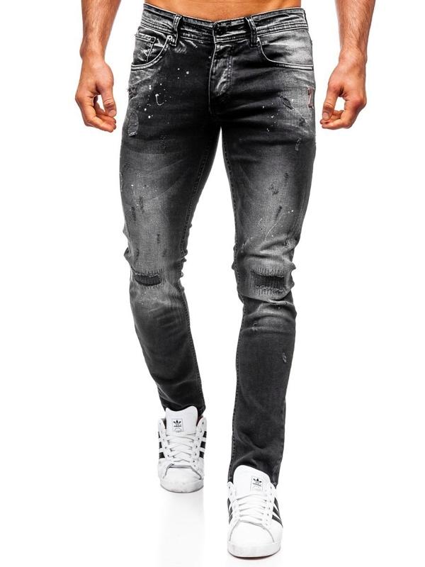 Černé pánské džíny regular fit Bolf 4000