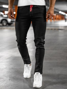 Černé pánské džíny skinny fit Bolf KX557