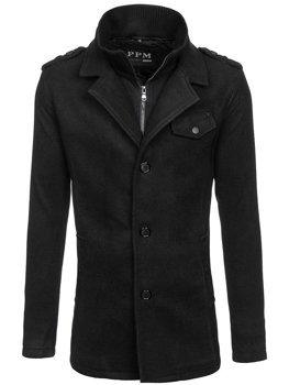 Černý pánský kabát Bolf 8853F