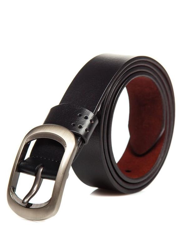 Černý pánský kožený opásek Bolf P012