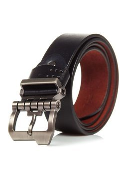 Černý pánský kožený opásek Bolf P018