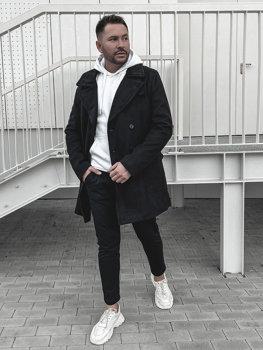 Černý pánský zimní kabát Bolf 1048B