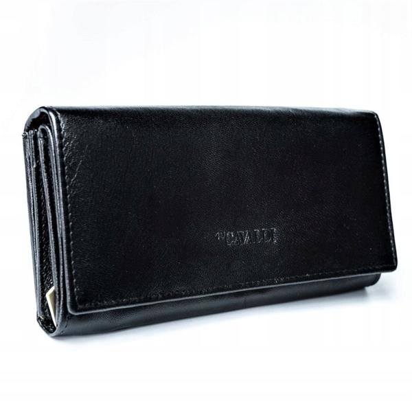 Dámská černá kožená peněženka 2773