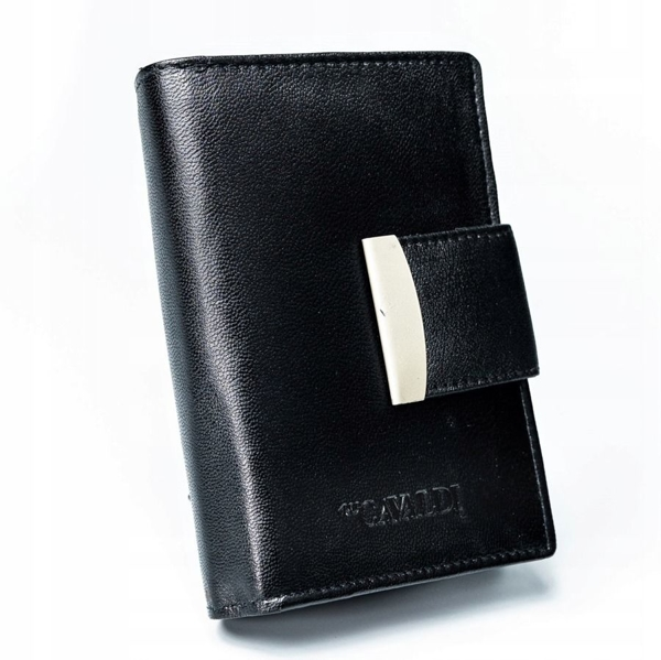 Dámská černá kožená peněženka 2778