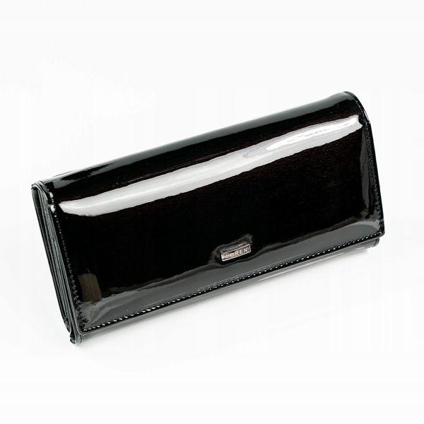 Dámská černá kožená peněženka 889