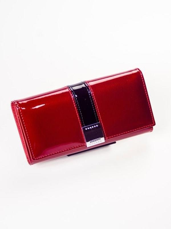 Dámská červená kožená peněženka 1217