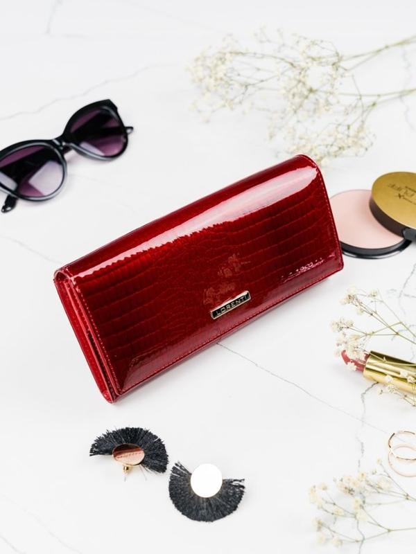 Dámská červená kožená peněženka 2097