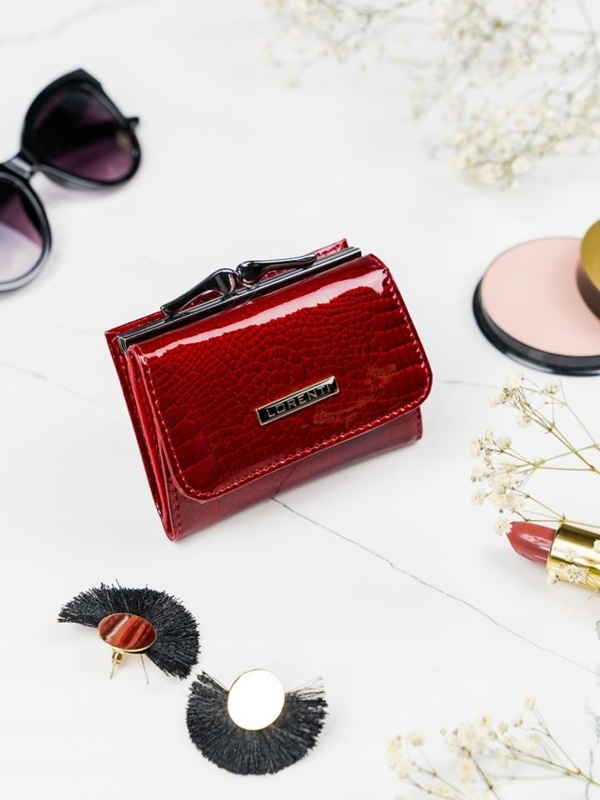 Dámská červená kožená peněženka 2103