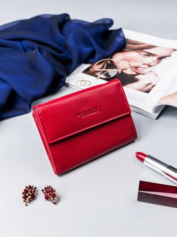 Dámská červená kožená peněženka 2411