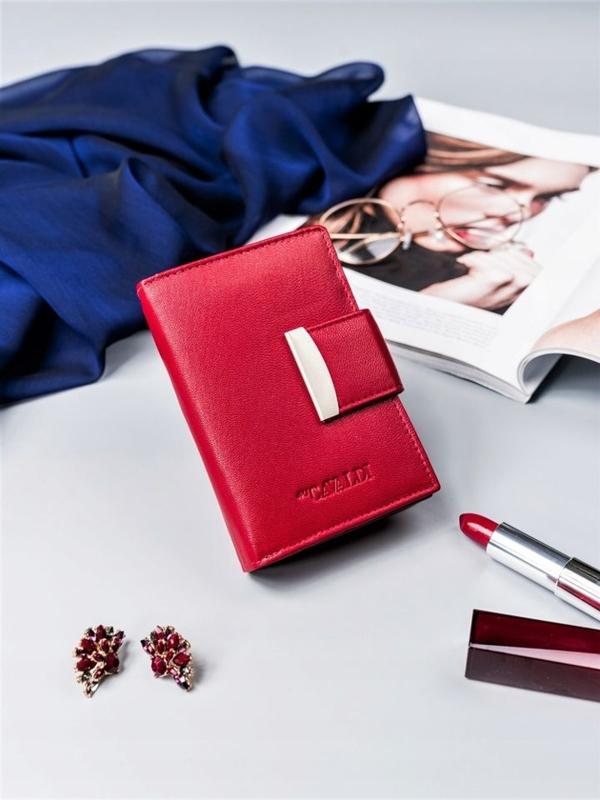 Dámská červená kožená peněženka 2412