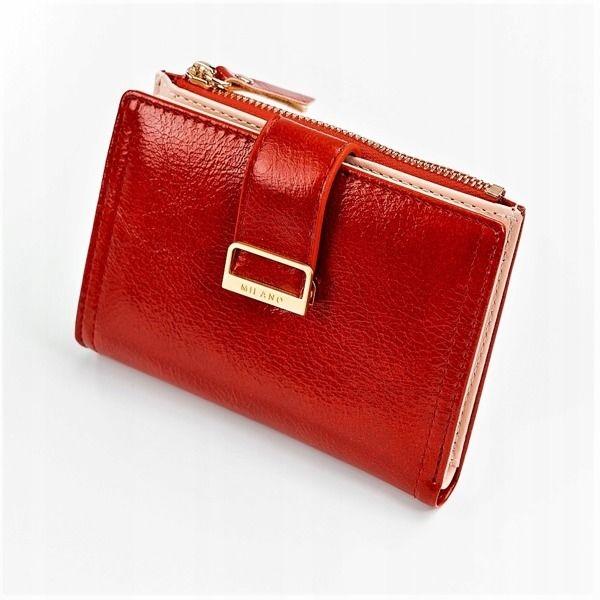 Dámská červená koženková peněženka 1041
