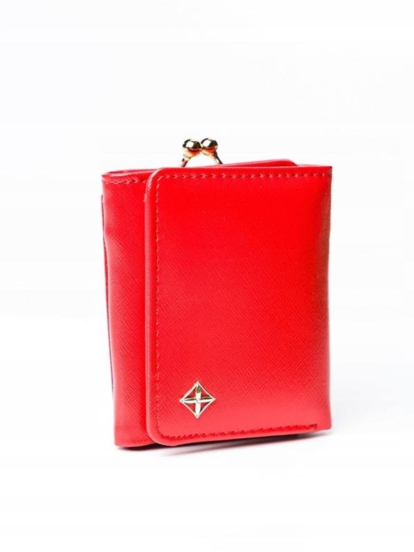 Dámská červená koženková peněženka 3003