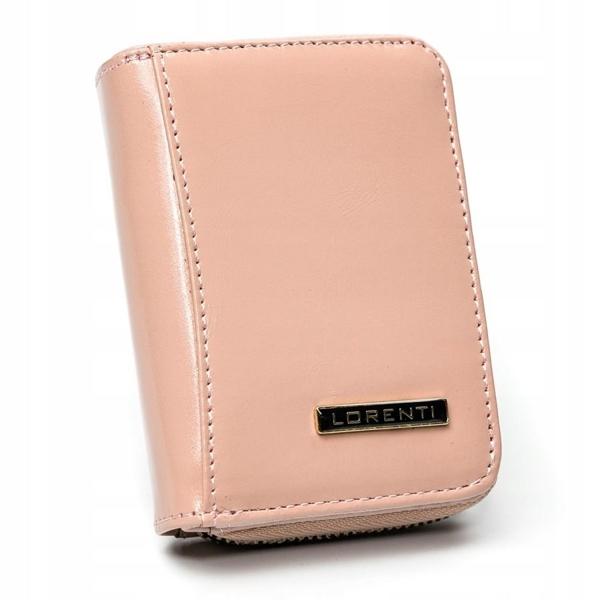 Dámská lososová kožená peněženka 2863