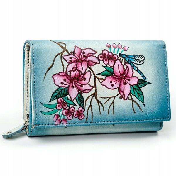 Dámská vícebarevná kožená peněženka 3045