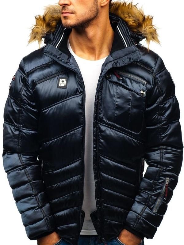Grafitová pánská zimní lyžářská bunda Bolf K30