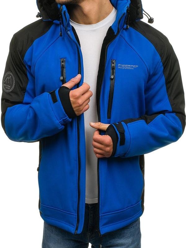 Modrá pánská softshellová zimní bunda Bolf 5629