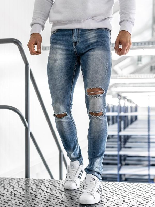 Modré pánské džíny Bolf 3943