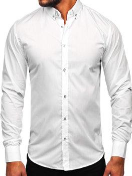 Pánská bílá elegantní košile s dlouhým rukávem Bolf 5821-1