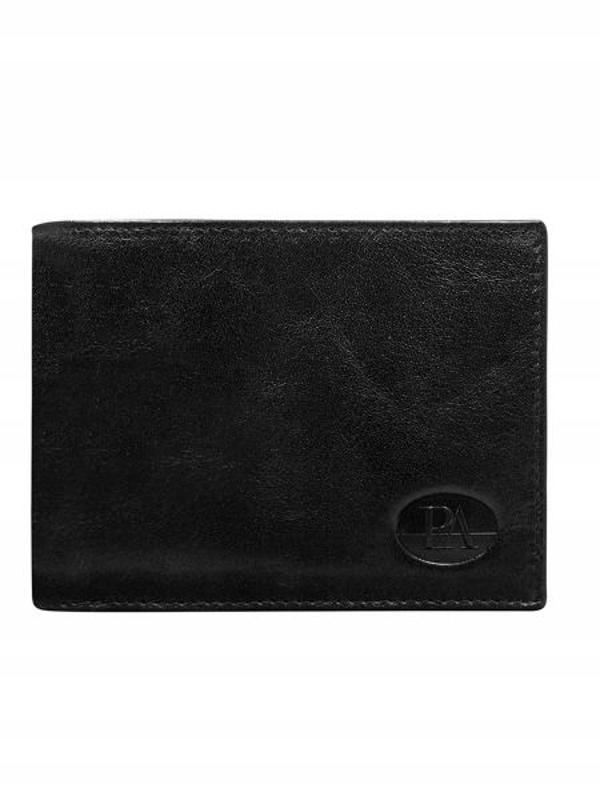 Pánská černá kožená peněženka 146