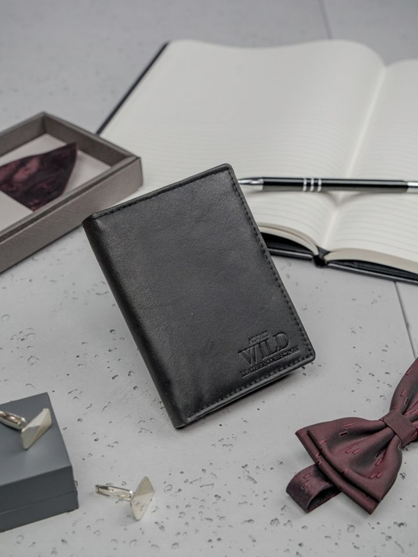 Pánská černá kožená peněženka 3150