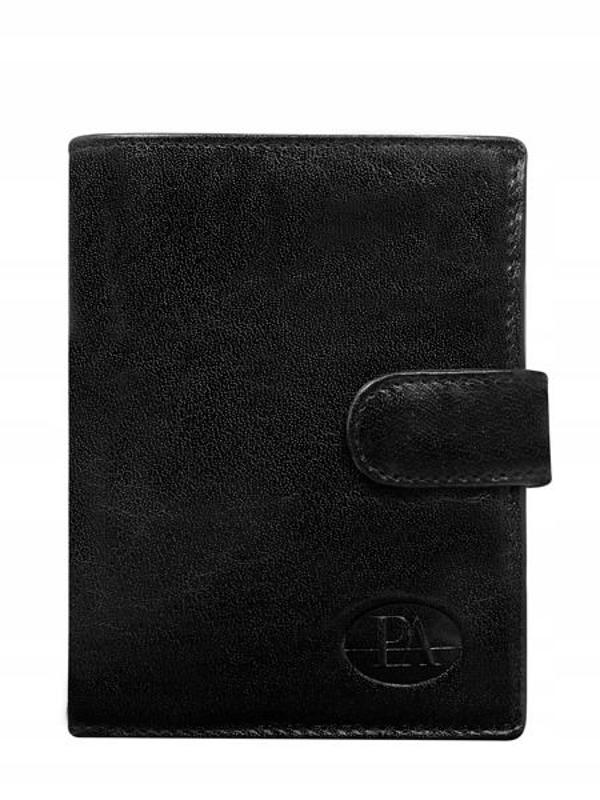 Pánská černá kožená peněženka 351