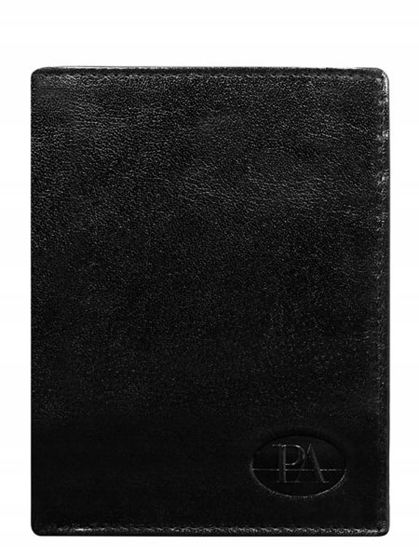 Pánská černá kožená peněženka 379