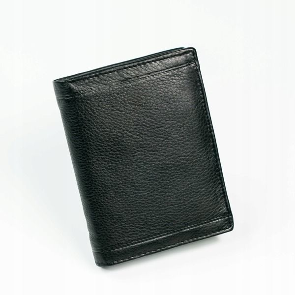 Pánská černá kožená peněženka 879