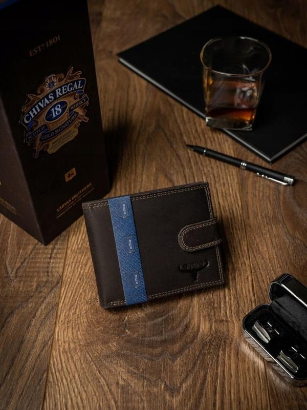 Pánská hnědá kožená peněženka 2226
