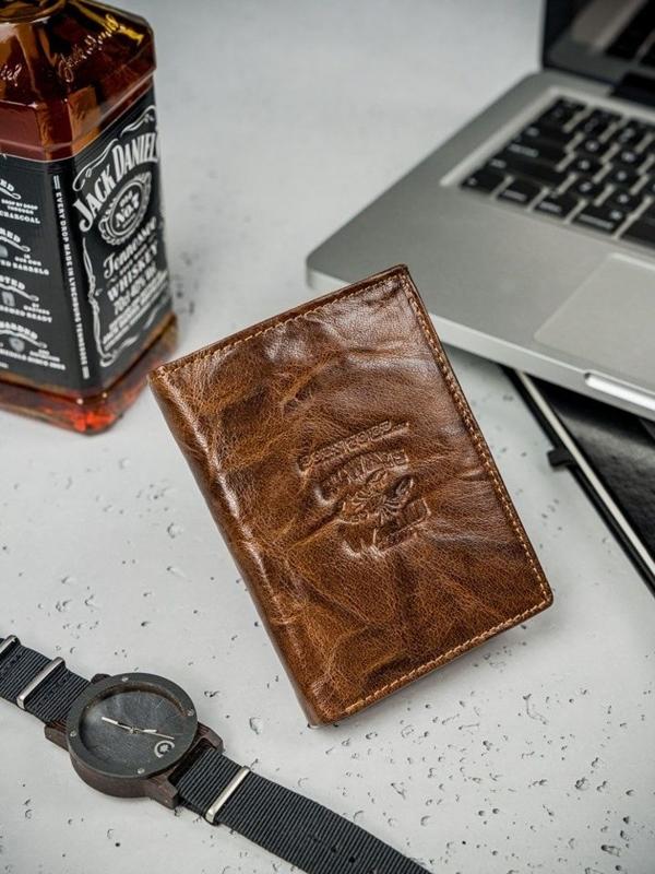 Pánská hnědá kožená peněženka 3209