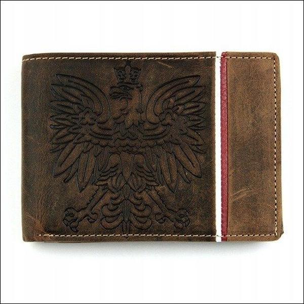 Pánská hnědá kožená peněženka 677