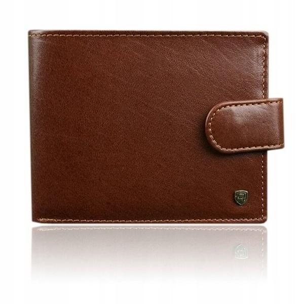 Pánská hnědá kožená peněženka 917