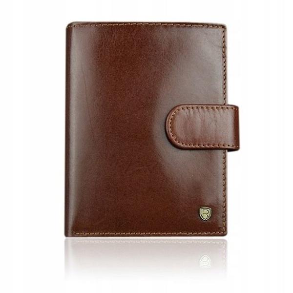 Pánská hnědá kožená peněženka 925