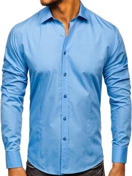 Pánská košile BOLF 1703-2 blankytná