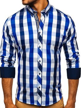 Pánská košile BOLF 4791 tmavě modrá