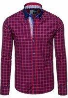 Pánská košile BOLF 5813 červená