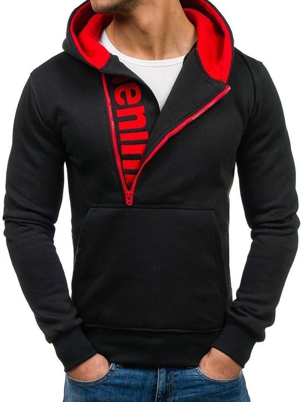 Pánská mikina BOLF Y10 černo-červená