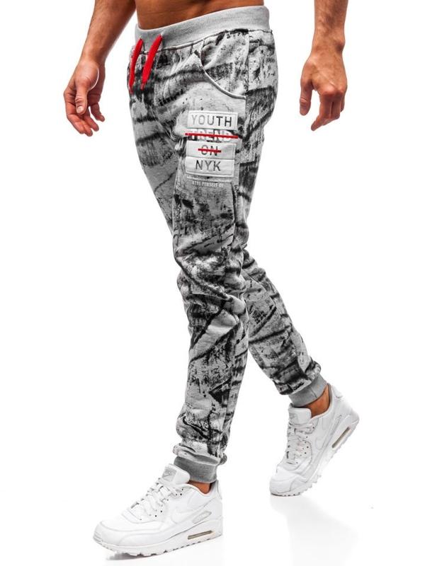 Šedé pánské jogger tepláky Bolf AM009