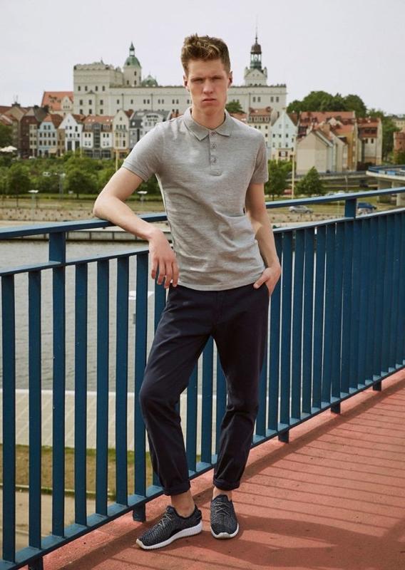 Stylizace č. 11 - polokošile, chino kalhoty, obuv